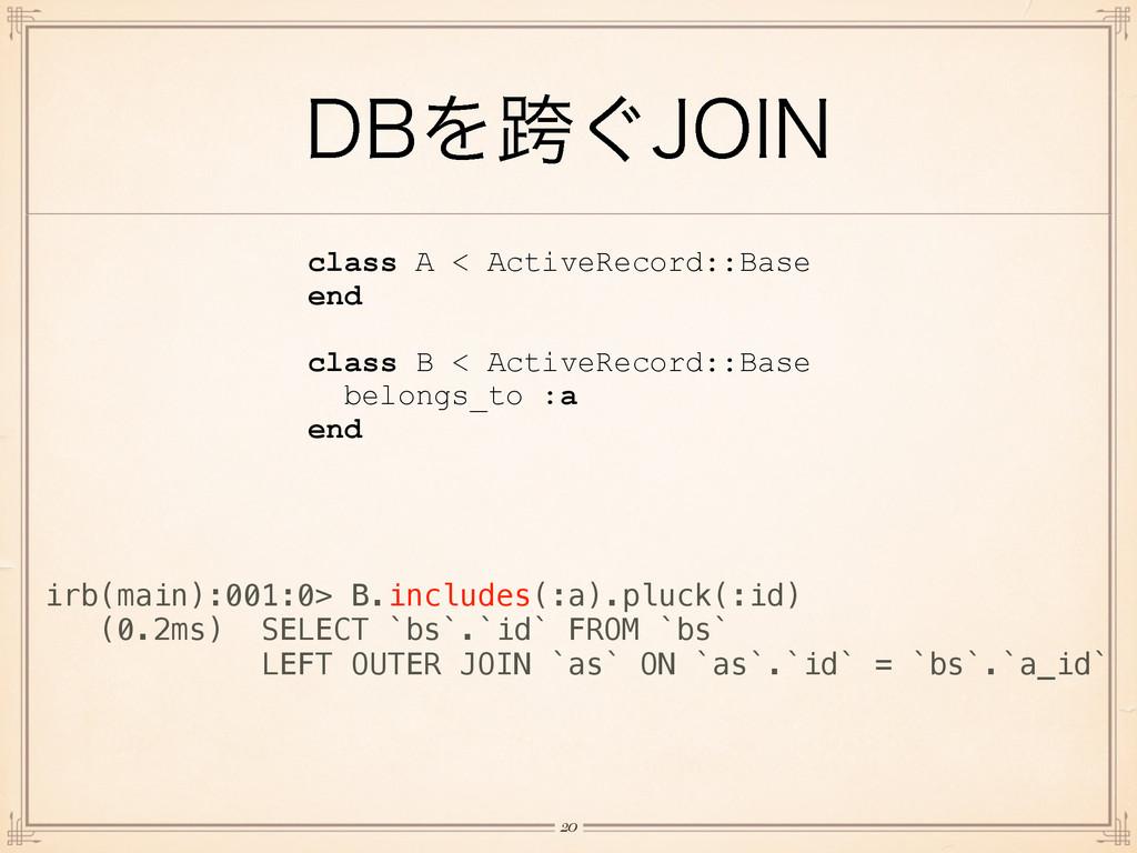 %#Λލ͙+0*/ !20 class A < ActiveRecord::Base end ...