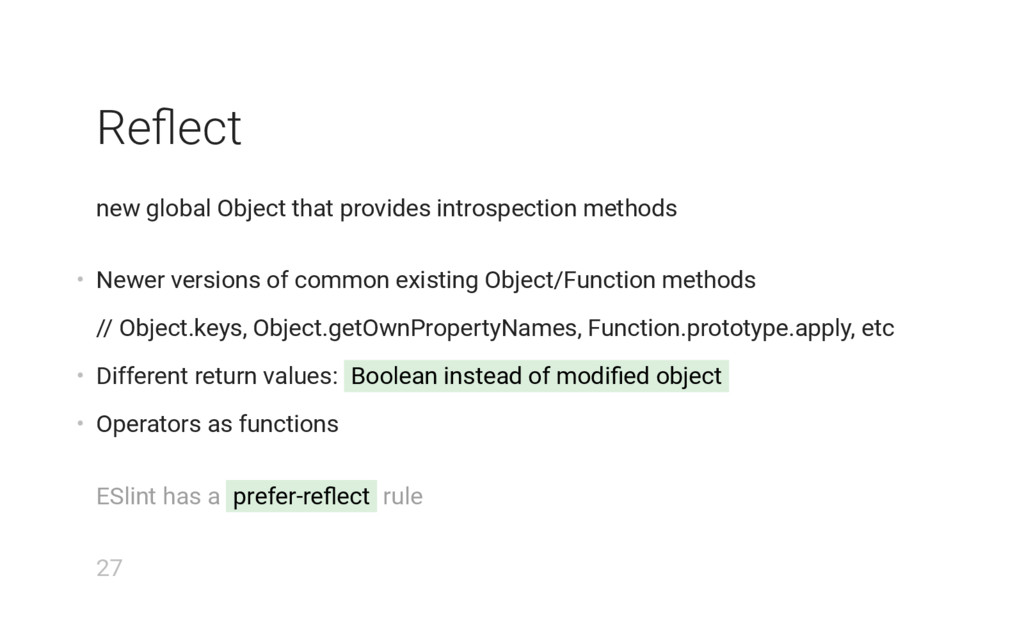 Reflect new global Object that provides introspe...