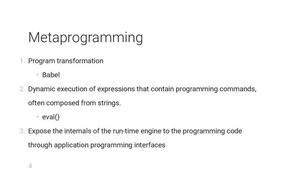 Metaprogramming 1. Program transformation • Bab...