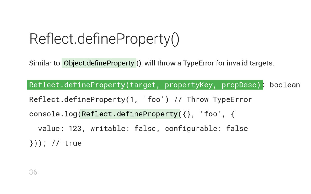 Reflect.defineProperty(target, propertyKey, pro...