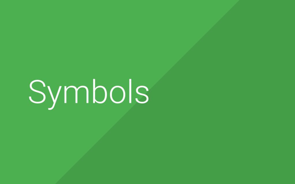8 Symbols