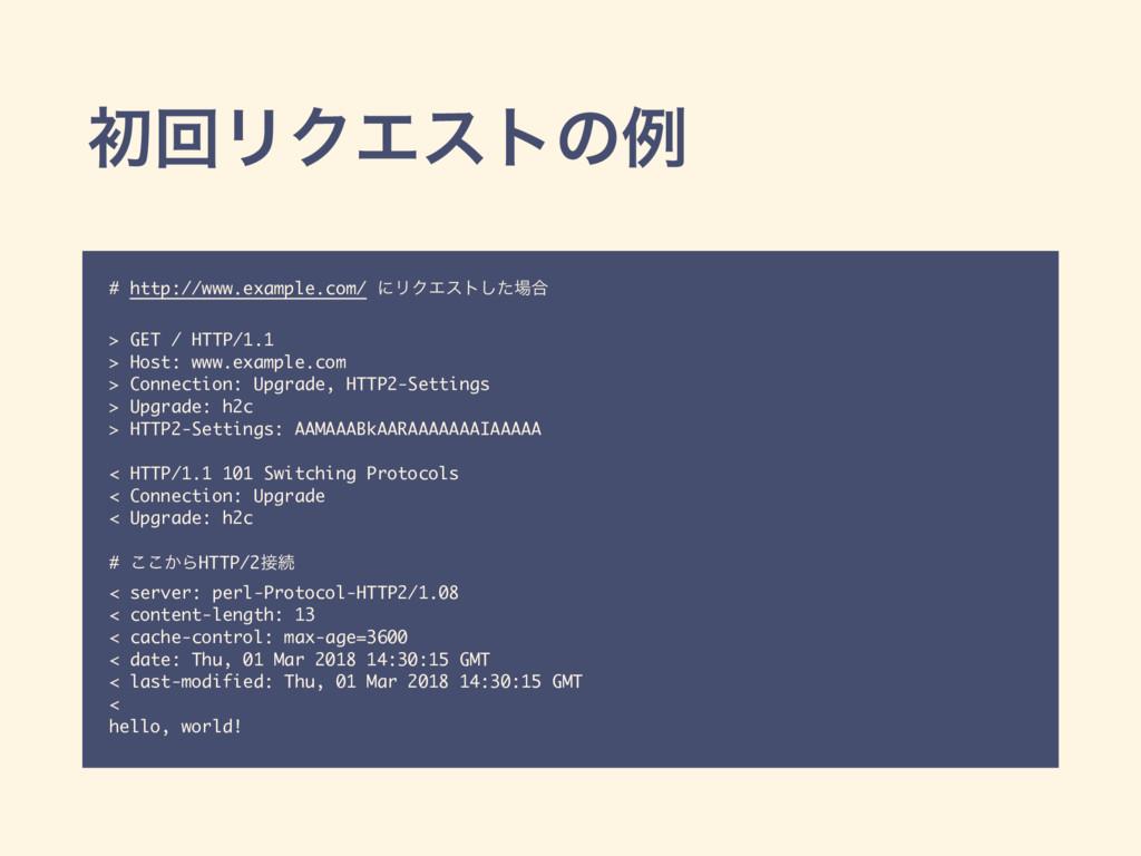 ॳճϦΫΤετͷྫ # http://www.example.com/ ʹϦΫΤετͨ͠߹ ...