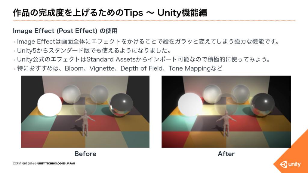 COPYRIGHT 2016 @ UNITY TECHNOLOGIES JAPAN ࡞ͷ...