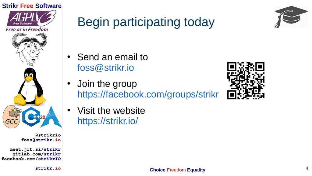4 Strikr Free Software 20 @strikrio foss@strikr...