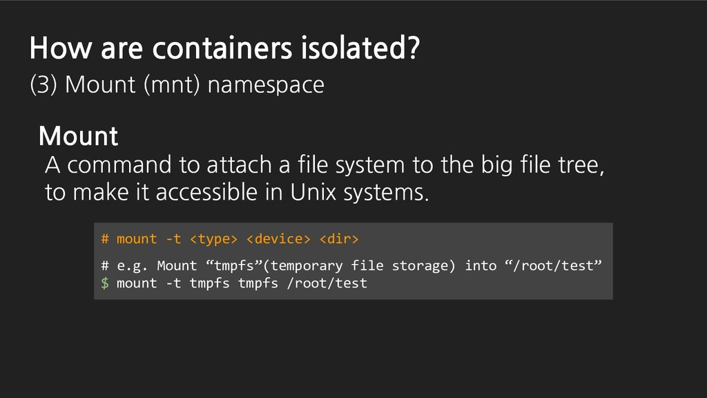 Mount A command to attach a file system to the ...