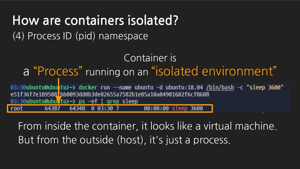 """Container is a """"Process"""" running on an """"isolate..."""