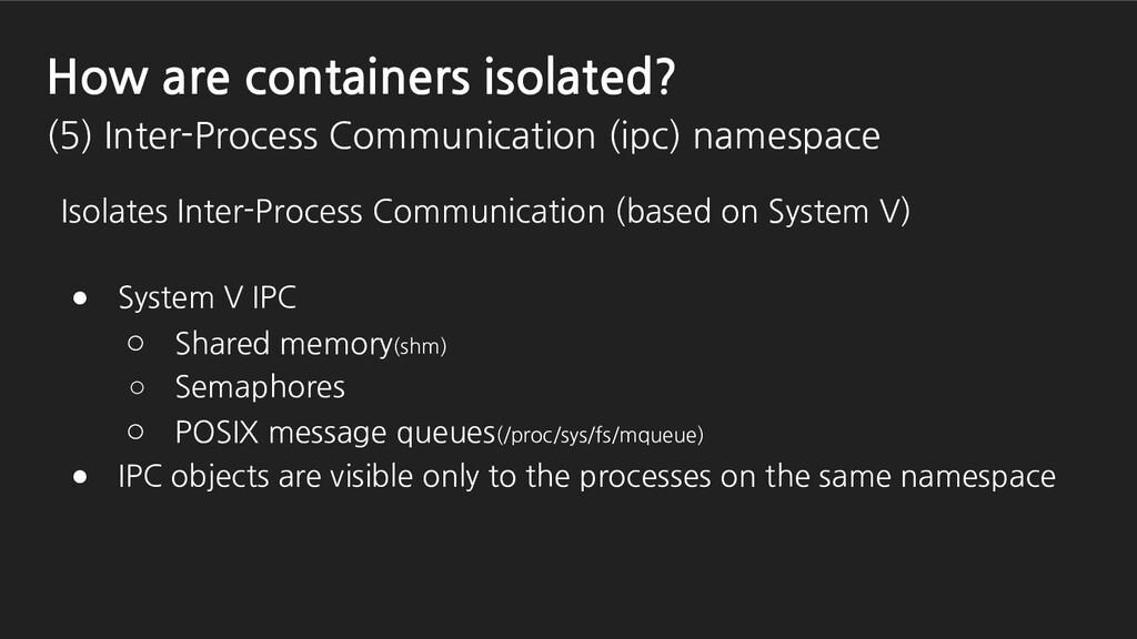 Isolates Inter-Process Communication (based on ...