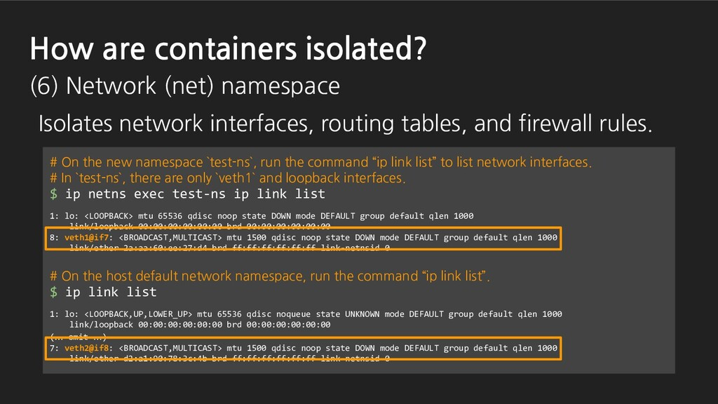 # On the new namespace `test-ns`, run the comma...