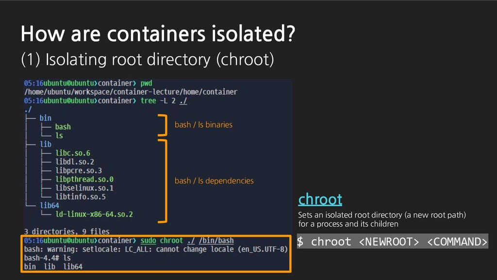 bash / ls dependencies bash / ls binaries $ chr...