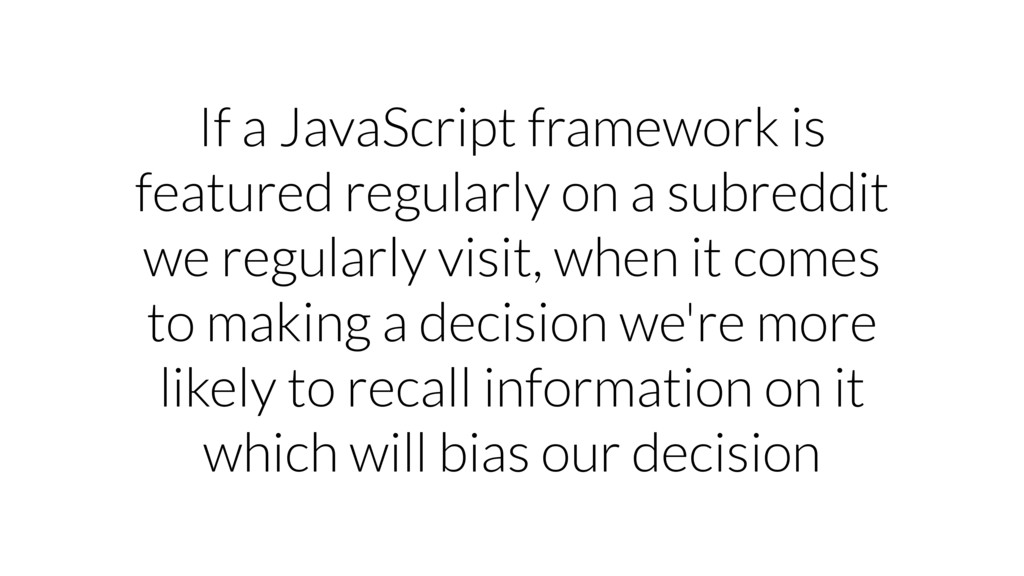 If a JavaScript framework is featured regularly...