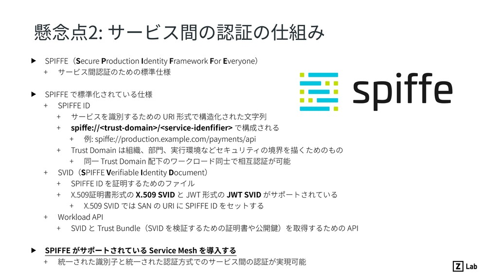 ▶ SPIFFE(Secure Production Identity Framework F...