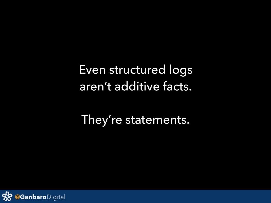 @GanbaroDigital Even structured logs aren't add...