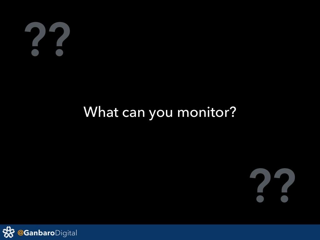 @GanbaroDigital ?? ?? What can you monitor?