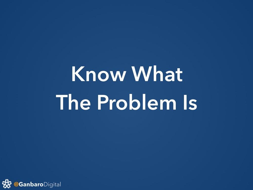 @GanbaroDigital Know What The Problem Is