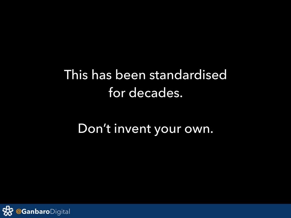 @GanbaroDigital This has been standardised for ...