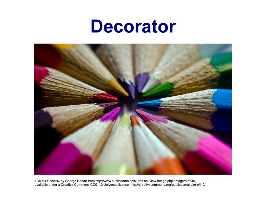 Decorator «Colour Pencils» by George Hodan from...