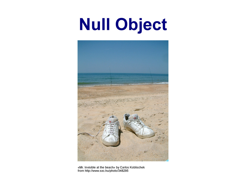 Null Object «Mr. Invisible at the beach» by Car...