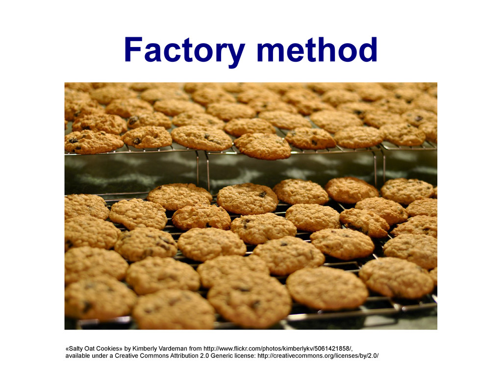 Factory method «Salty Oat Cookies» by Kimberly ...