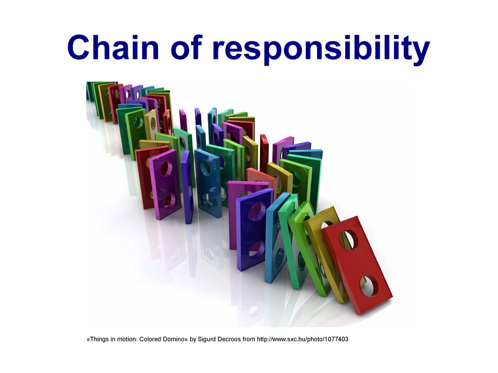 Chain of responsibility «Things in motion: Colo...