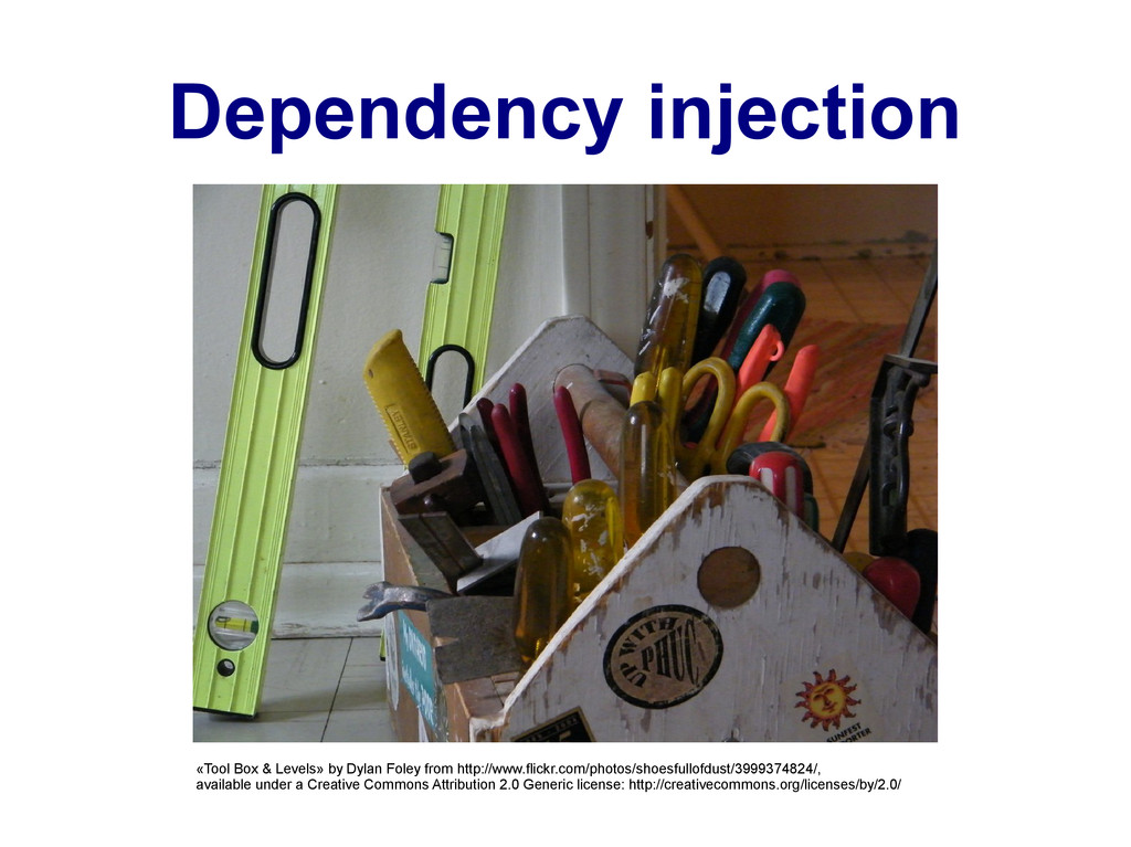 Dependency injection «Tool Box & Levels» by Dyl...