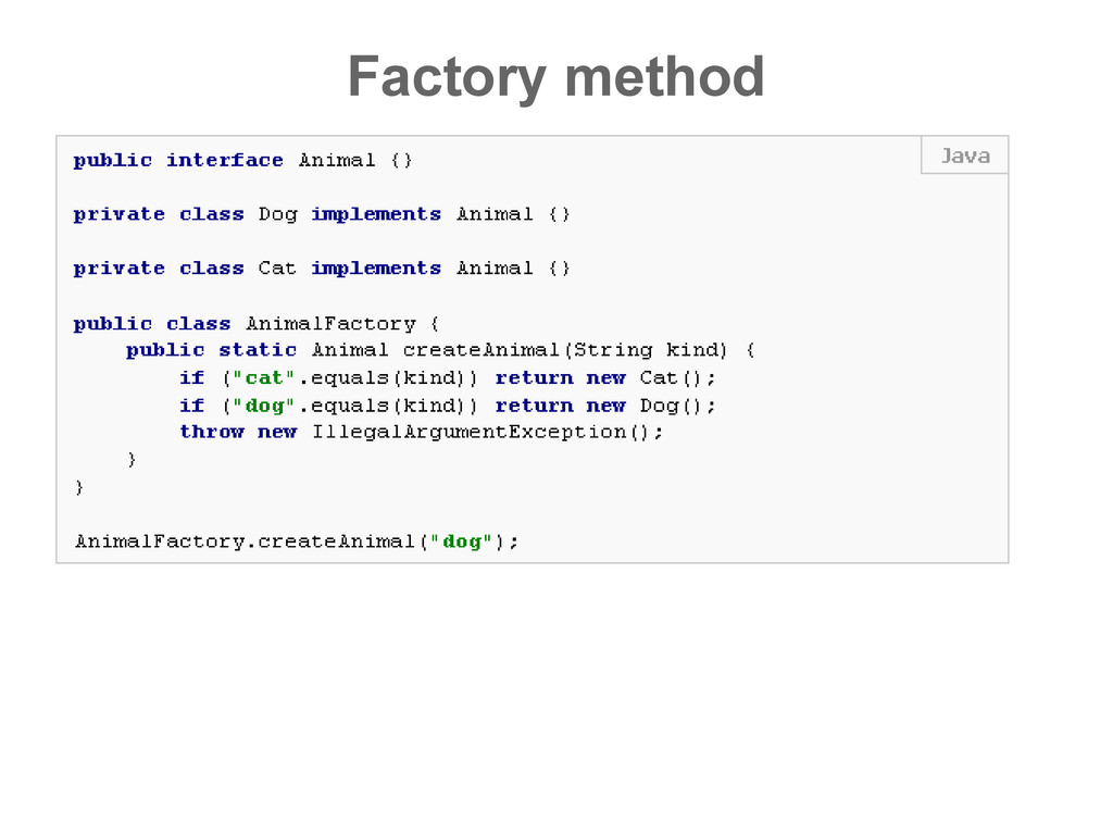 Factory method