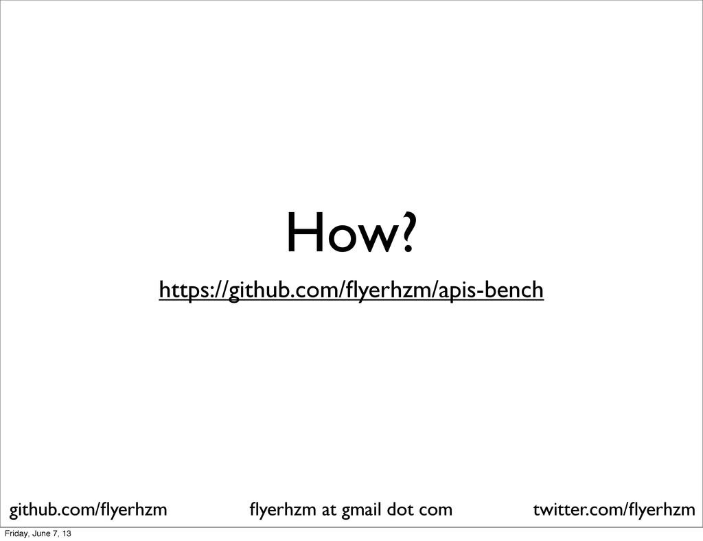How? flyerhzm at gmail dot com github.com/flyerhz...