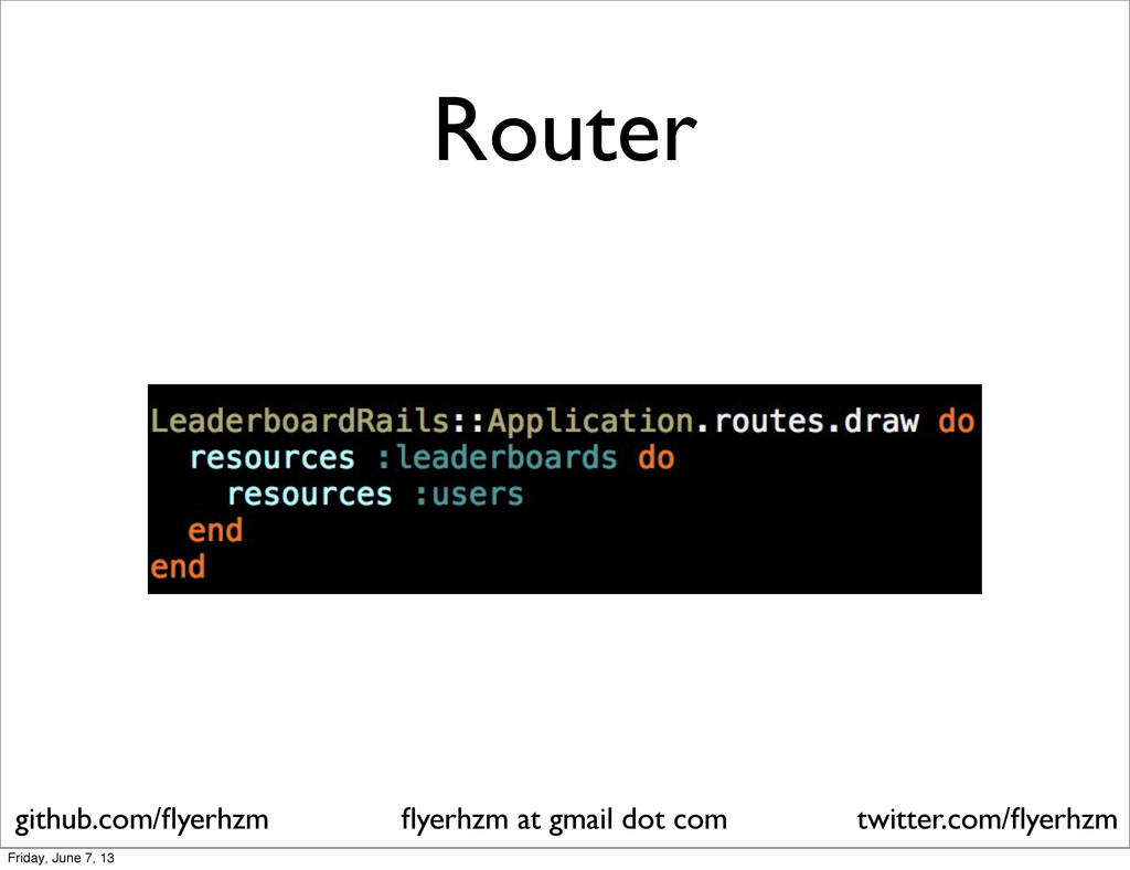 Router flyerhzm at gmail dot com github.com/flyer...