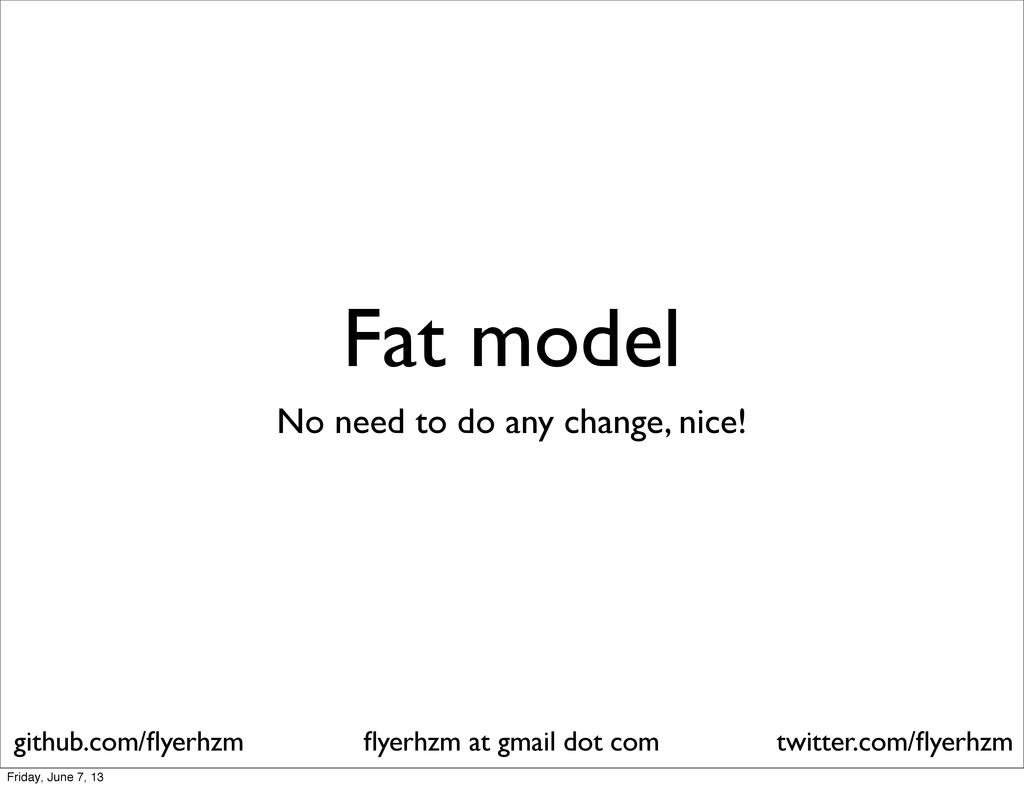 Fat model No need to do any change, nice! flyerh...