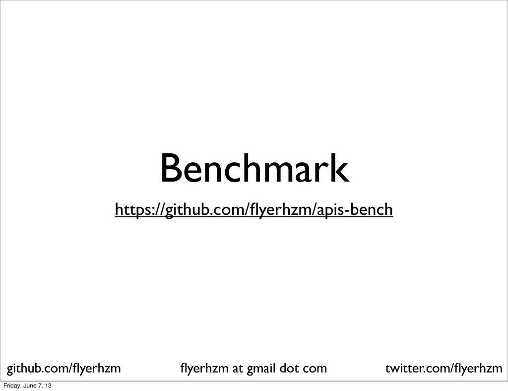 Benchmark flyerhzm at gmail dot com github.com/fl...
