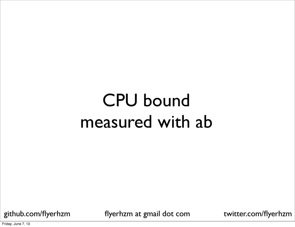 CPU bound measured with ab flyerhzm at gmail dot...