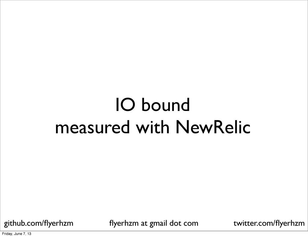IO bound measured with NewRelic flyerhzm at gmai...
