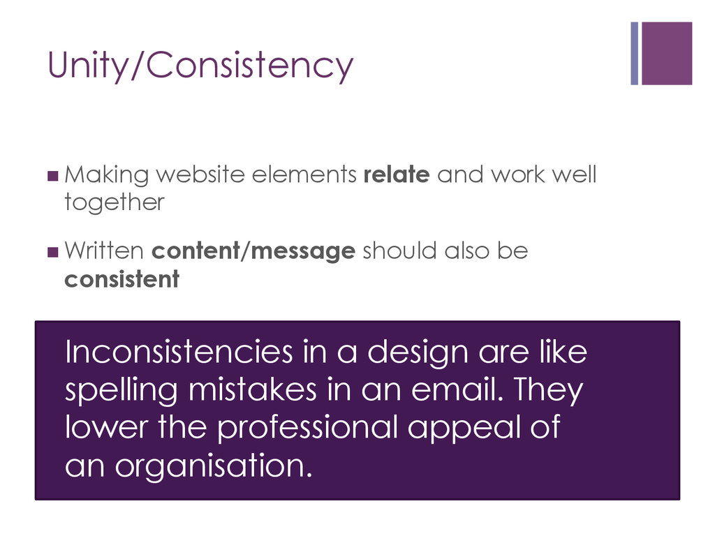 Inconsistencies in a design are like spelling m...
