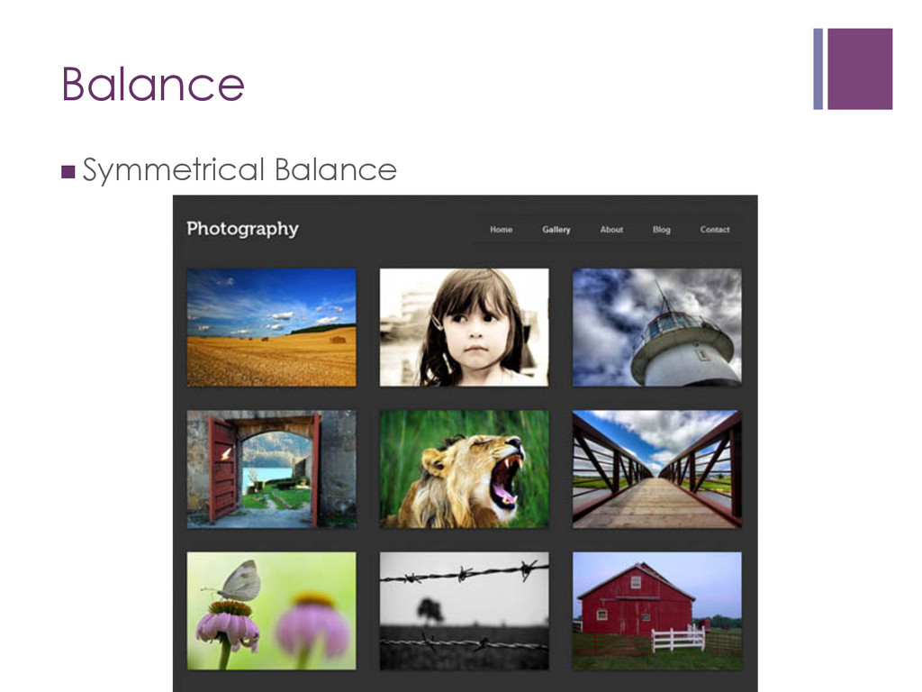 Balance nSymmetrical Balance
