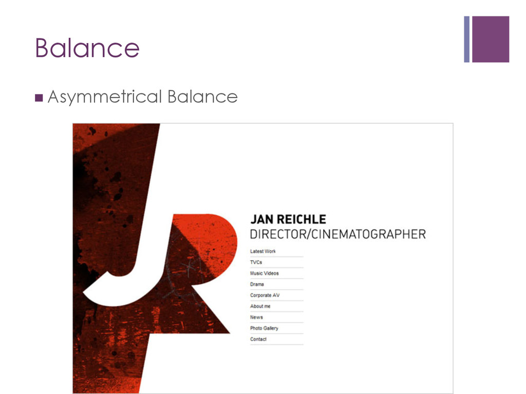 Balance nAsymmetrical Balance