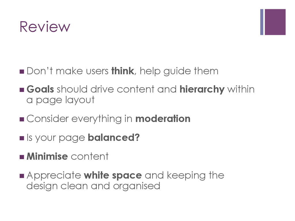 Review nDon't make users think, help guide th...