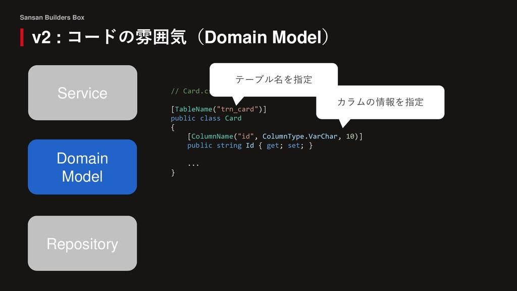 Sansan Builders Box v2 : コードの雰囲気(Domain Model) ...