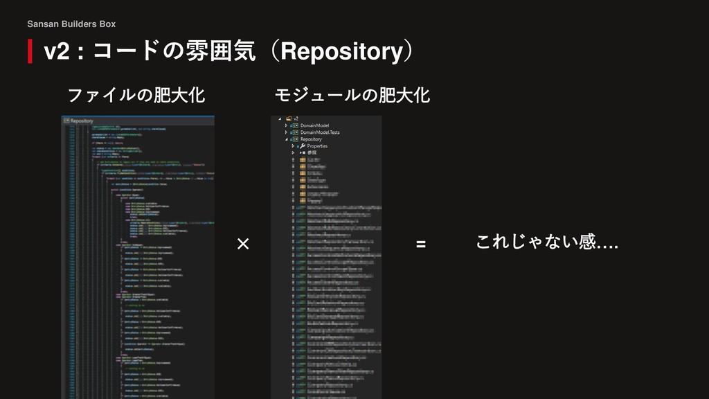 Sansan Builders Box v2 : コードの雰囲気(Repository) ファ...