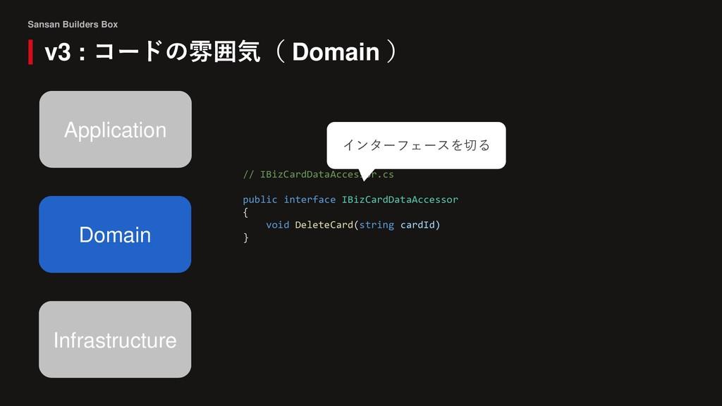 Sansan Builders Box v3 : コードの雰囲気( Domain ) Doma...