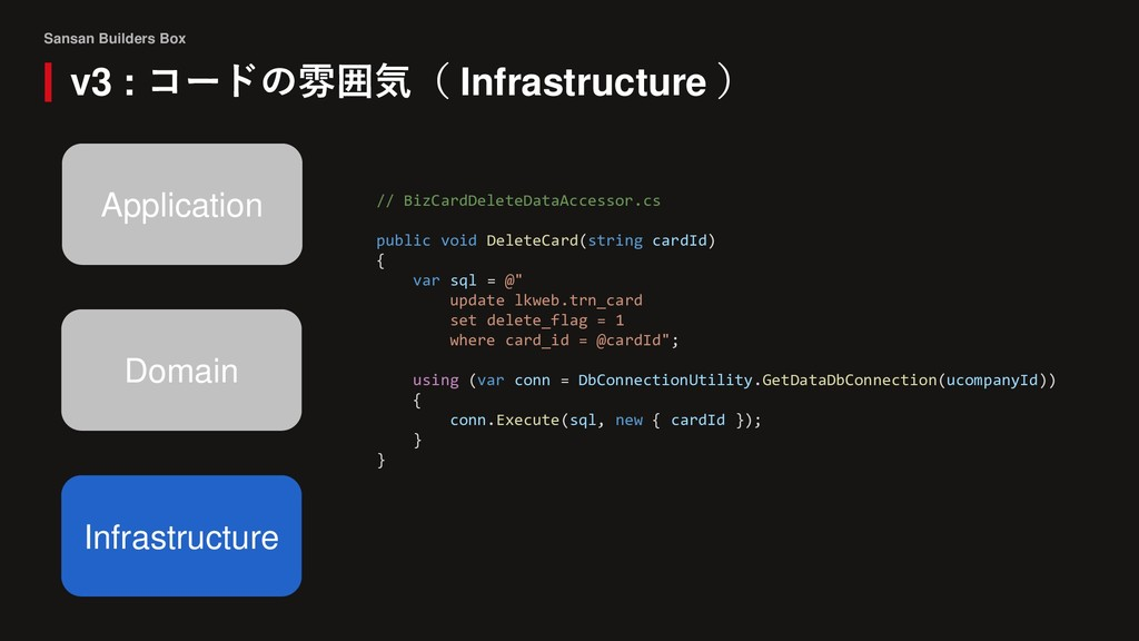 Sansan Builders Box v3 : コードの雰囲気( Infrastructur...