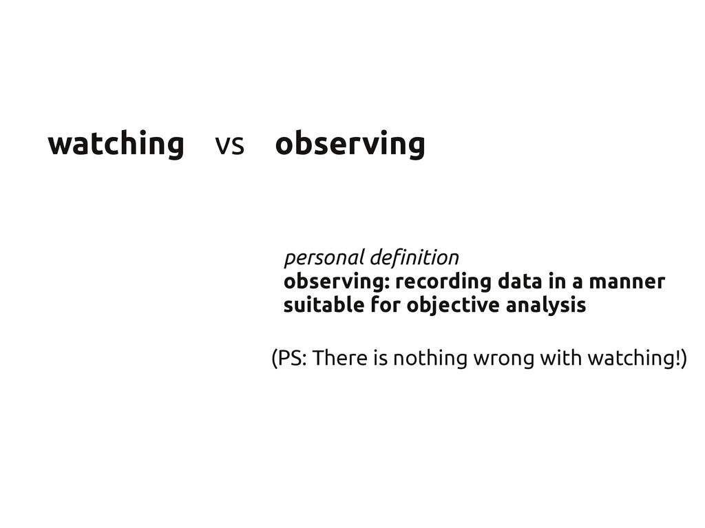watching vs observing personal definition obser...