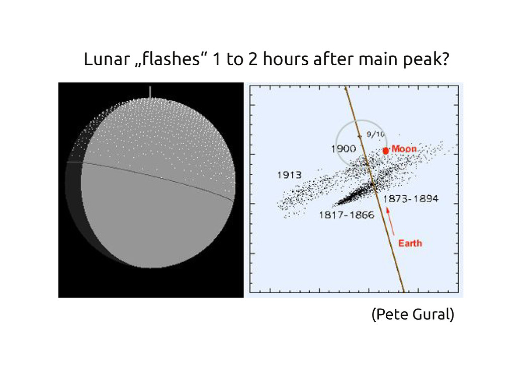 """(Pete Gural) Lunar """"flashes"""" 1 to 2 hours after..."""