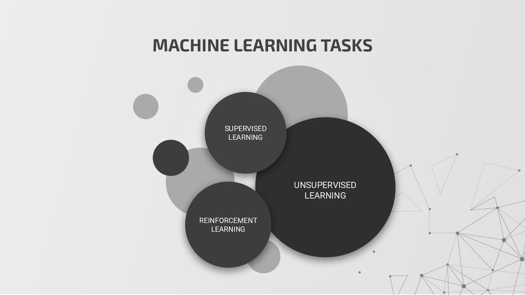 MACHINE LEARNING TASKS UNSUPERVISED LEARNING SU...