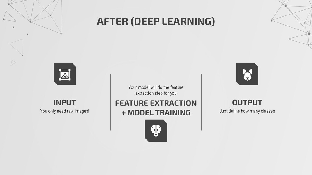 AFTER (DEEP LEARNING) INPUT You only need raw i...