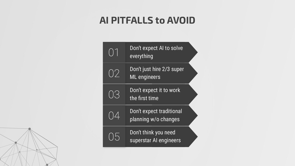 AI PITFALLS to AVOID Don't think you need super...