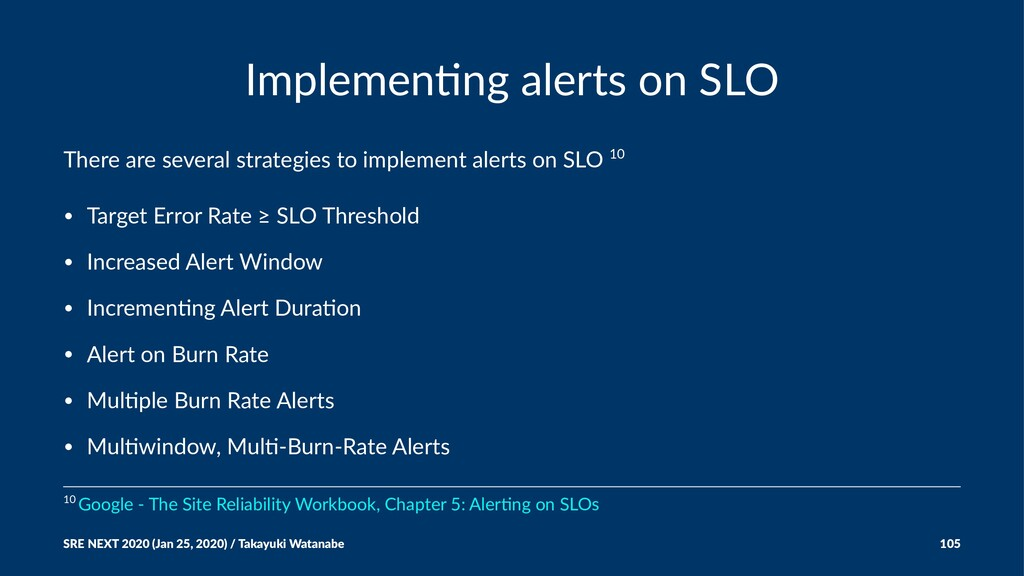 Implemen'ng alerts on SLO There are several str...