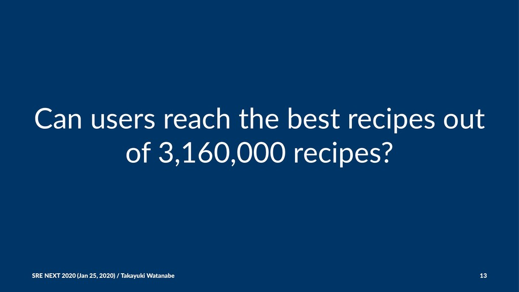 Can users reach the best recipes out of 3,160,0...