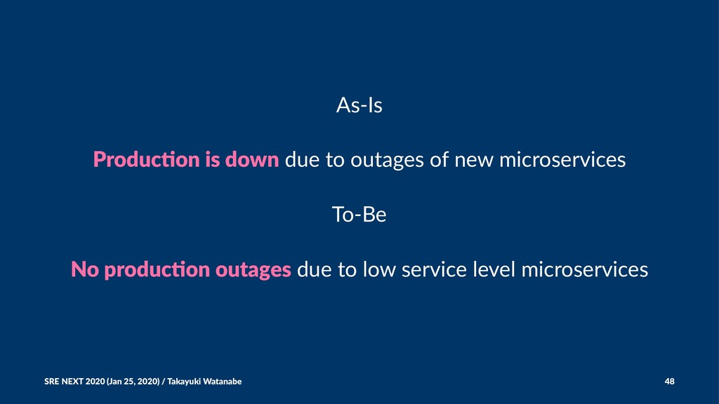 As-Is Produc'on is down due to outages of new m...