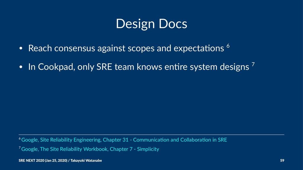 Design Docs • Reach consensus against scopes an...