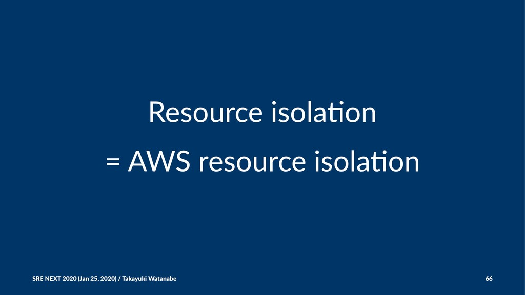 Resource isola,on = AWS resource isola/on SRE N...