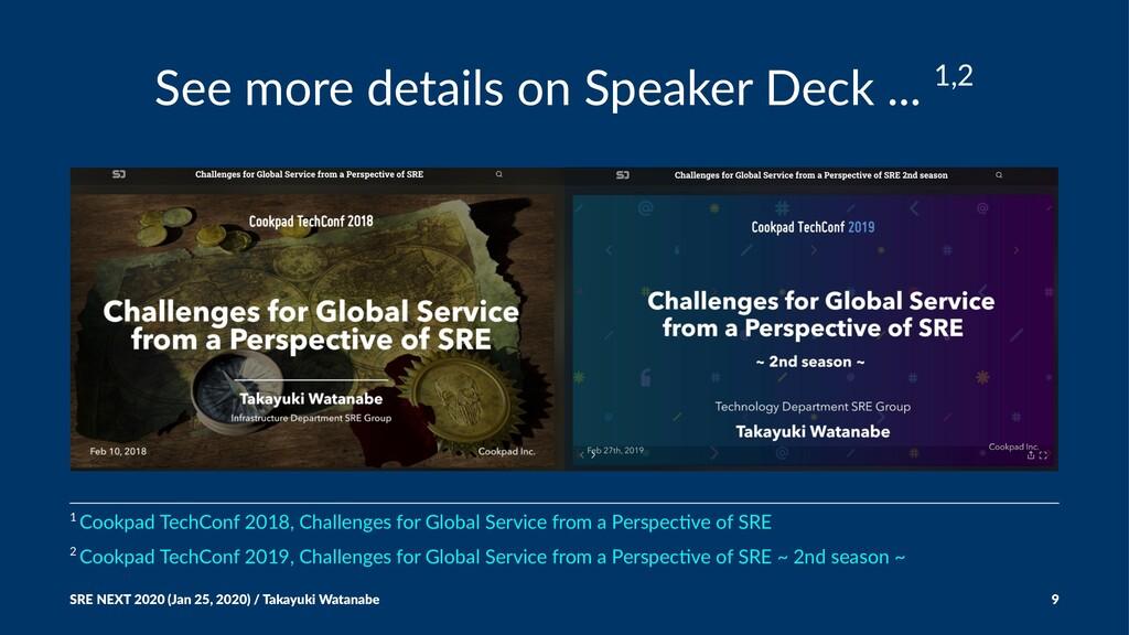 See more details on Speaker Deck ... 1,2 2 Cook...